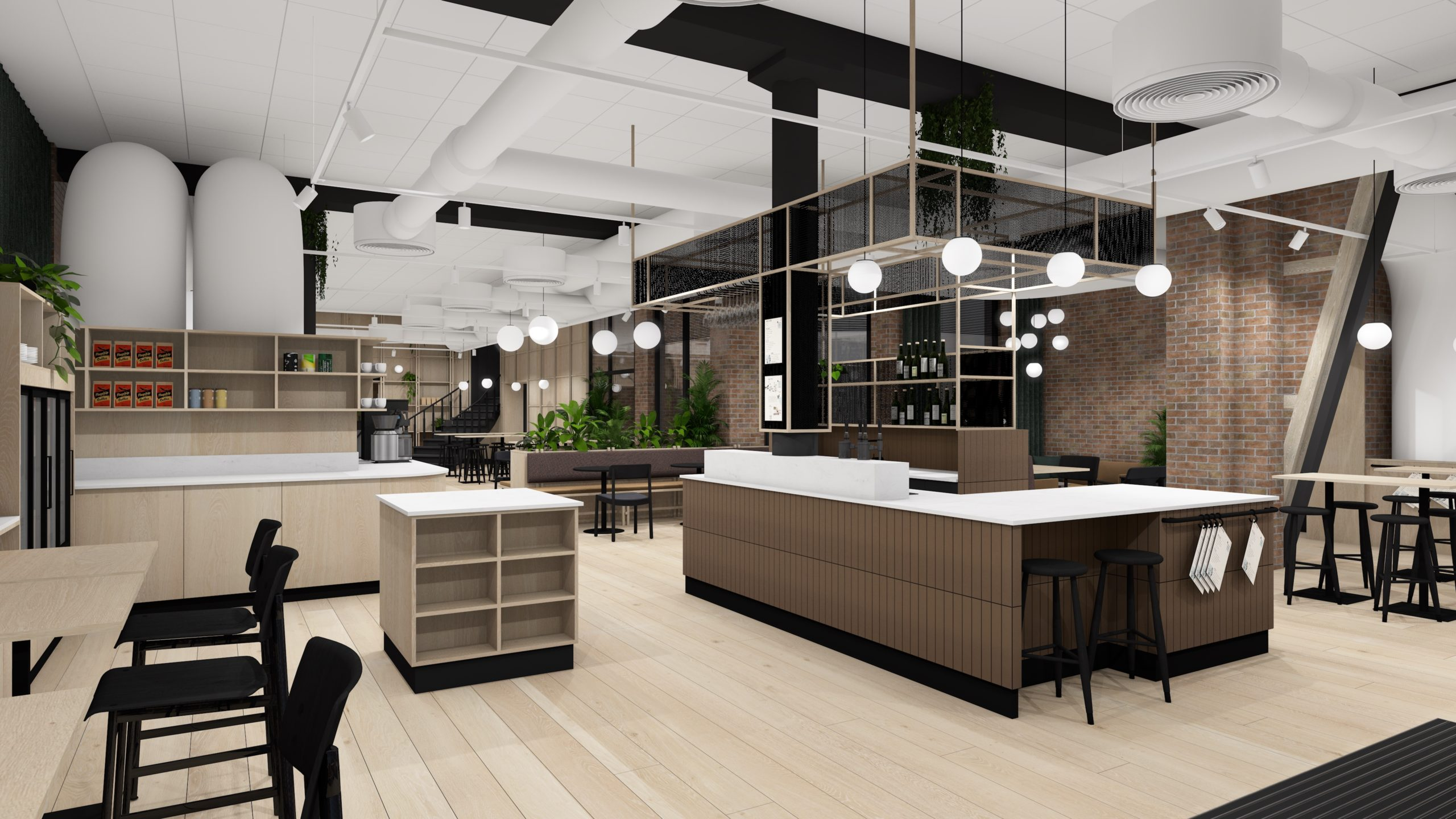 The forst floor of Mesh Youngstorget will be a large Workbar open for both members and the public.